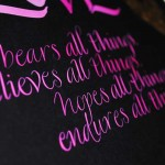 Love-bears-all-things-calligraphy-art