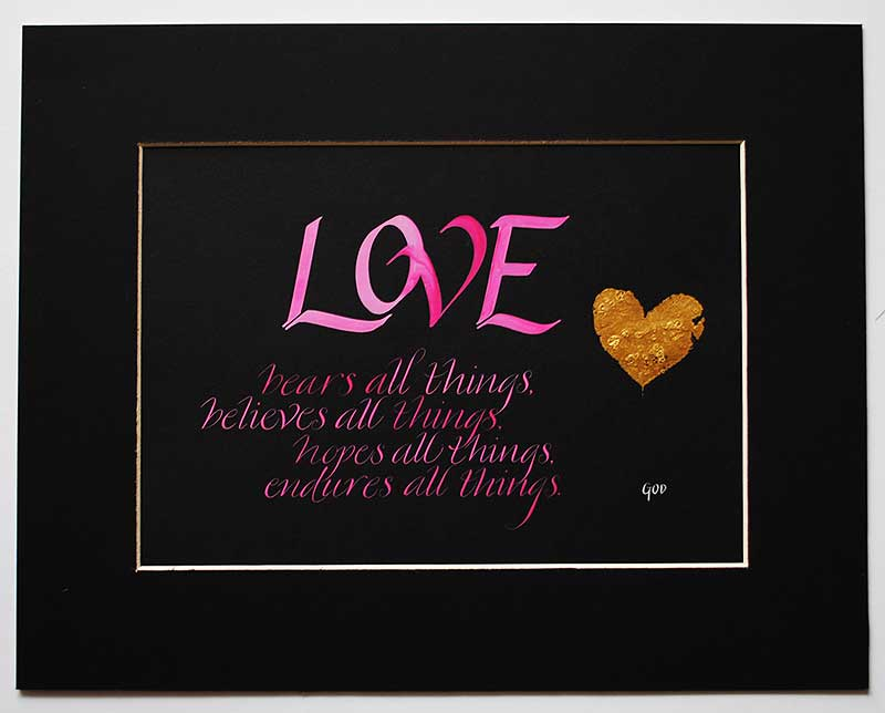 Love-bears-all-things-endures-all-things-calligraphy