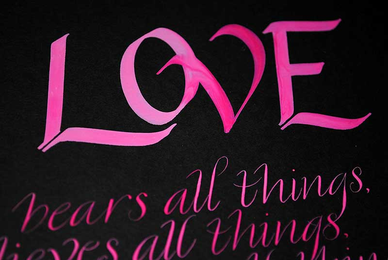 Love-calligraphy-art-by-wedding-callligrapher