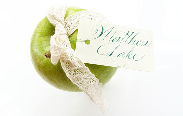 apple escort card place name