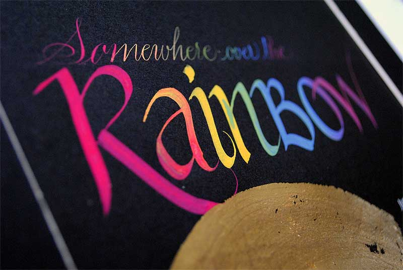 calligraphy-art-somewhere-over-the-rainbow