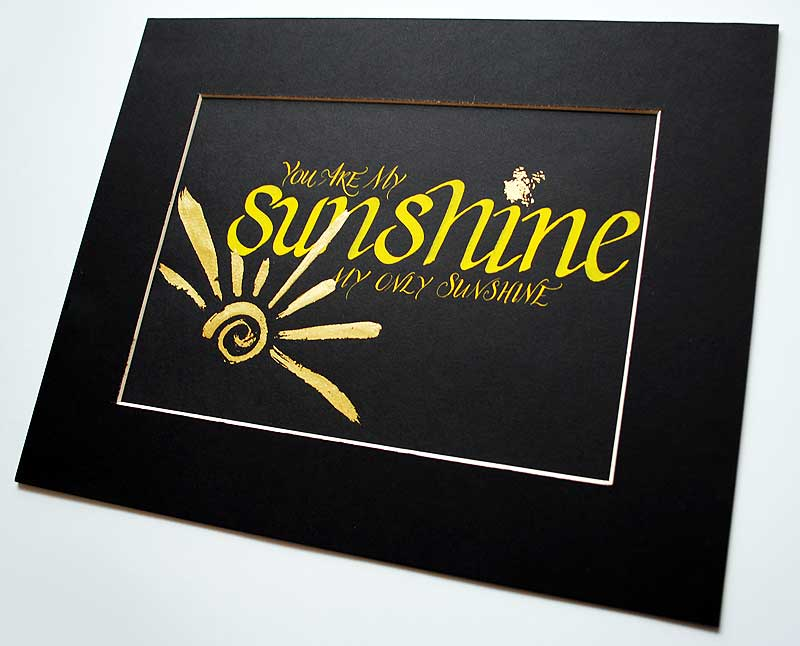 you-are-my-sunshine-calligraphy-art