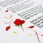 Calligraphy-close-up-Robert-Burns-illuminated-letter-old-fashioned-writing