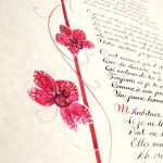 calligraphy-poem-commission-orchid-lily-illustration
