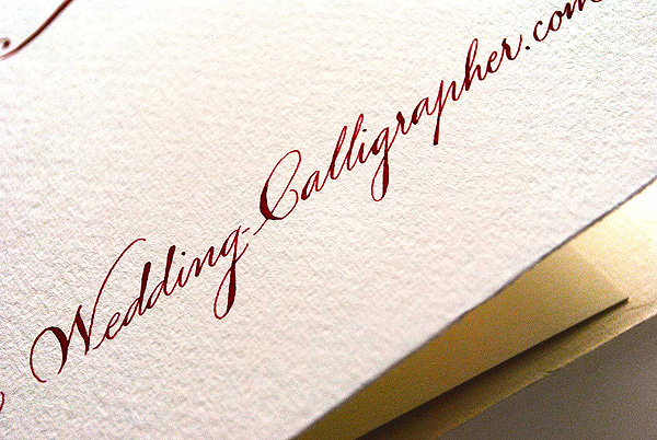 Wedding Calligrapher sample pack