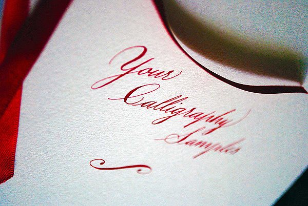 Your calligraphy sample