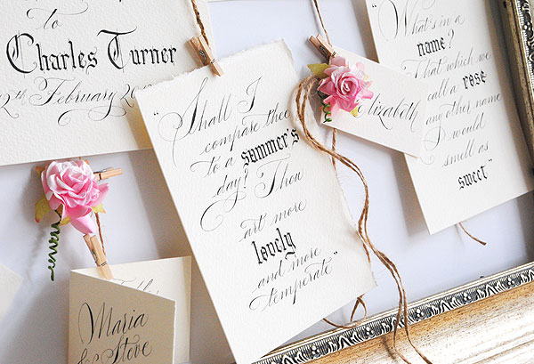 wedding calligrapher uk