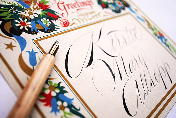 calligrapher project for kirstie allsopp