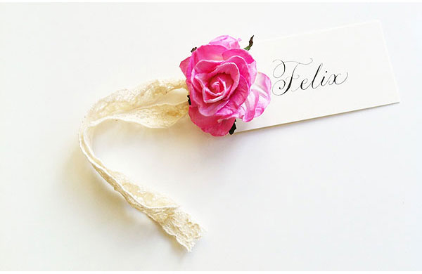 place cards lace