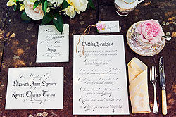 country garden calligraphy