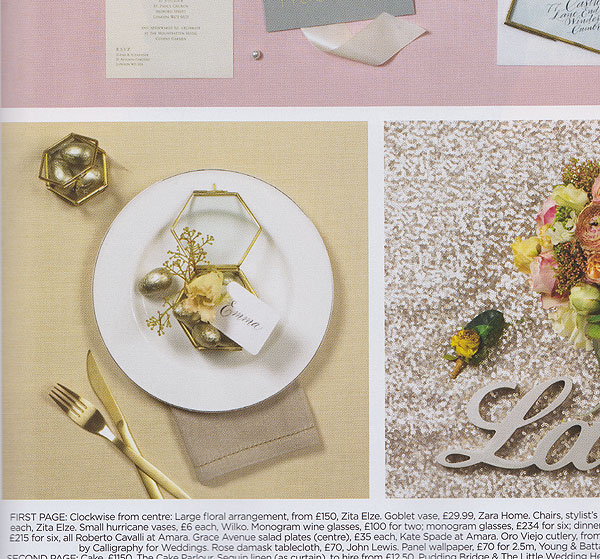 You your wedding magazine calligraphy for a glittering