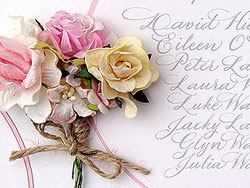 candy flowers wedding calligraphy