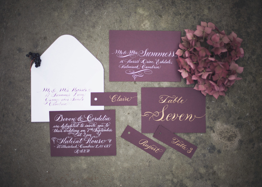 Calligraphy invitations Melissa Beattie Photography  (2)
