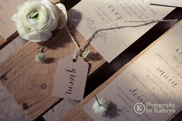 Rustic calligraphy wedding stationery ideas Photography by Kathryn (1)