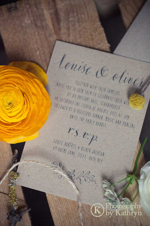 Rustic calligraphy wedding stationery ideas Photography by Kathryn (2)