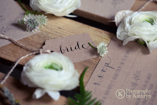Rustic calligraphy wedding stationery ideas Photography by Kathryn (3)