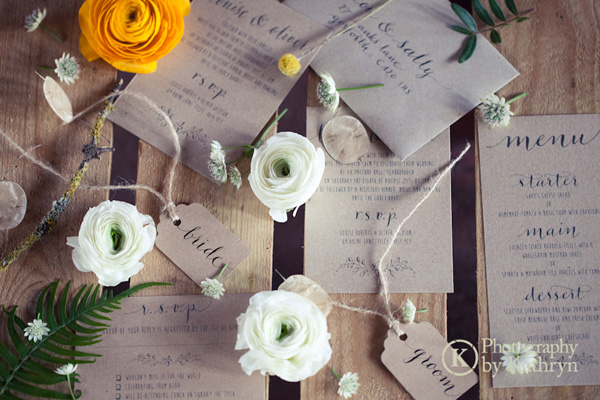 Rustic calligraphy wedding stationery ideas Photography by Kathryn (5)