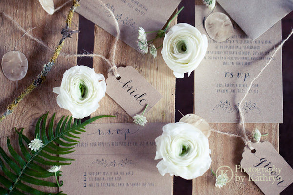Rustic calligraphy wedding stationery ideas Photography by Kathryn (6)