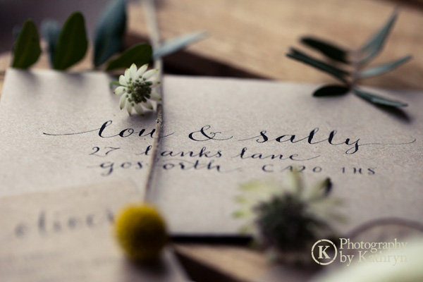 Rustic calligraphy wedding stationery ideas Photography by Kathryn (7)