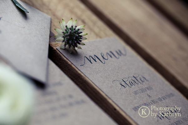 Rustic calligraphy wedding stationery ideas Photography by Kathryn (8)