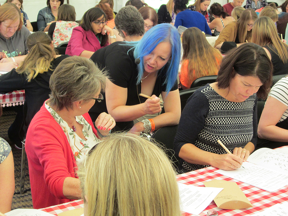 06 Calligraphy at Kirstie Allsopp's The Handmade Fair 2015 (24)