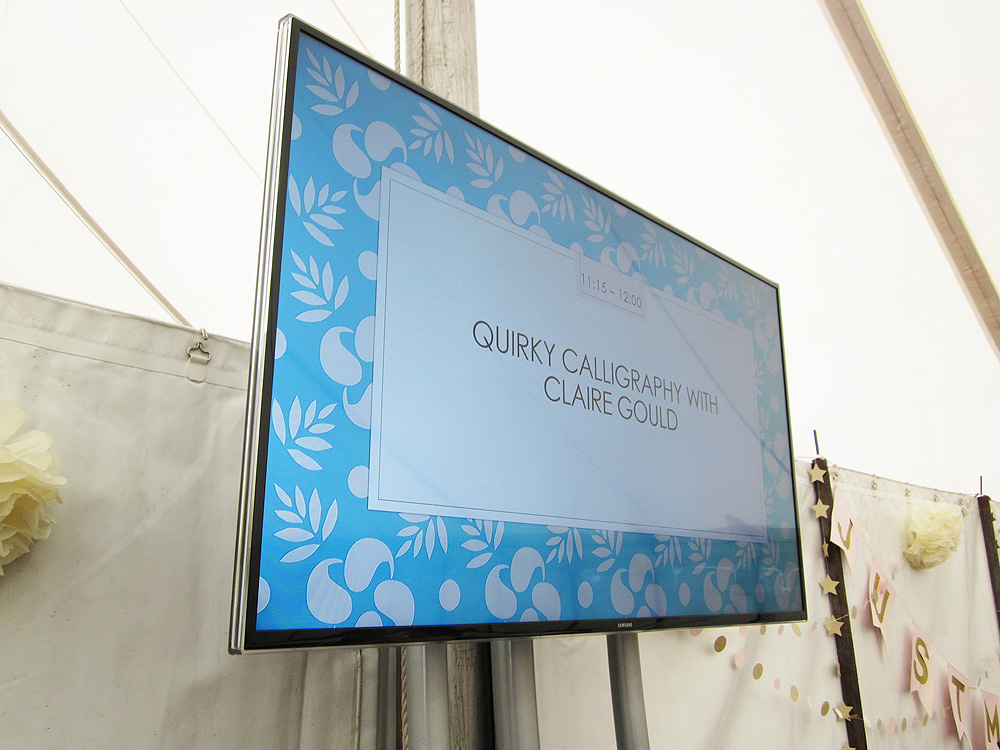 Calligraphy at Kirstie Allsopp's The Handmade Fair 2015 (1)