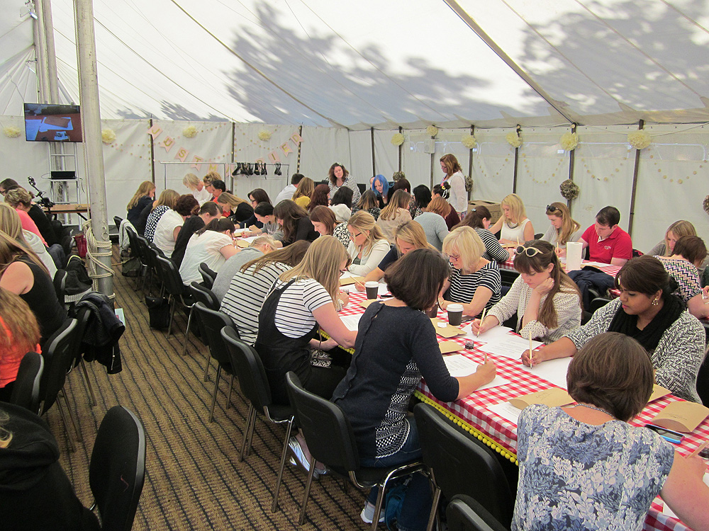 Calligraphy at Kirstie Allsopp's The Handmade Fair 2015 (14)