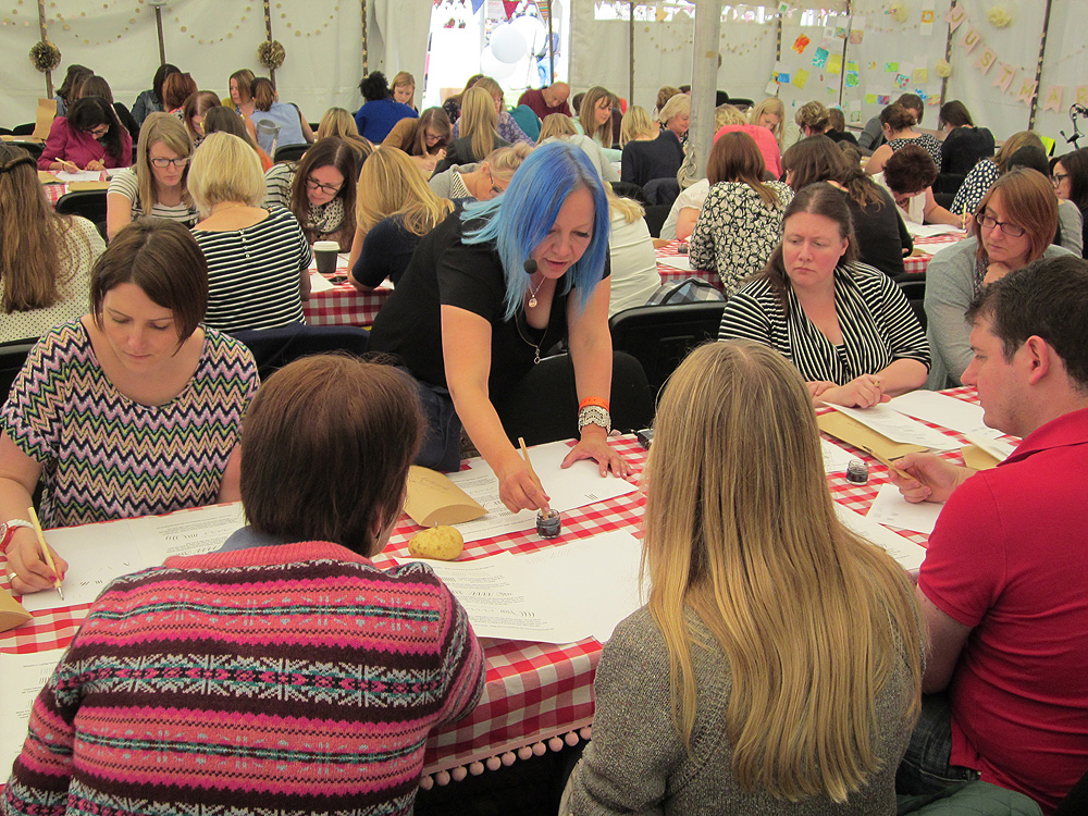 Calligraphy at Kirstie Allsopp's The Handmade Fair 2015 (15)