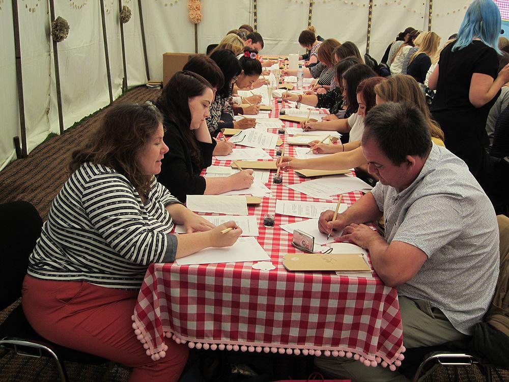 Calligraphy at Kirstie Allsopp's The Handmade Fair 2015 (16)