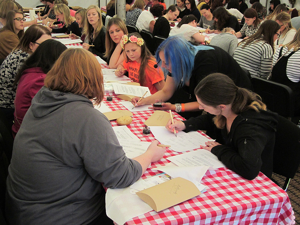 Calligraphy at Kirstie Allsopp's The Handmade Fair 2015 (18)