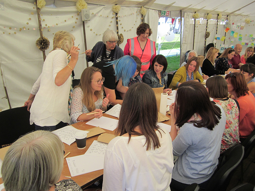 Calligraphy at Kirstie Allsopp's The Handmade Fair 2015 (21)