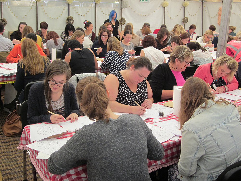 Calligraphy at Kirstie Allsopp's The Handmade Fair 2015 (22)