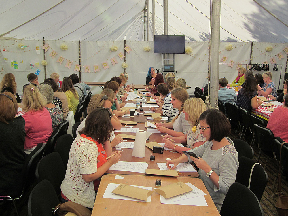 Calligraphy at Kirstie Allsopp's The Handmade Fair 2015 (28)
