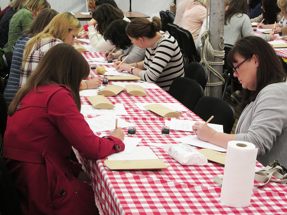 Calligraphy at Kirstie Allsopp's The Handmade Fair 2015 (3)