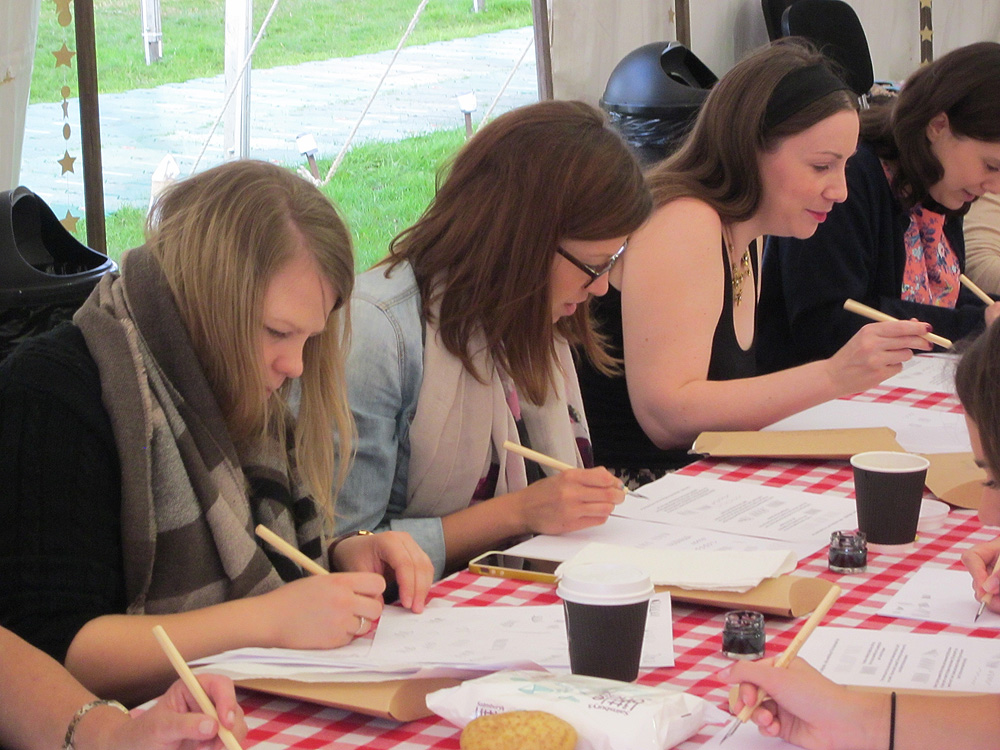 Calligraphy at Kirstie Allsopp's The Handmade Fair 2015 (33)