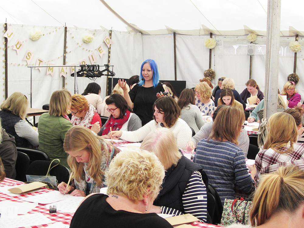 Calligraphy at Kirstie Allsopp's The Handmade Fair 2015 (8)
