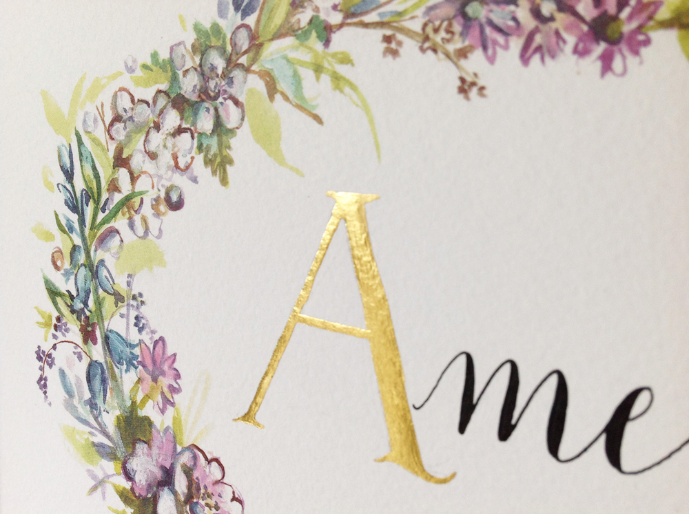 Calligraphy illustration print amelia1