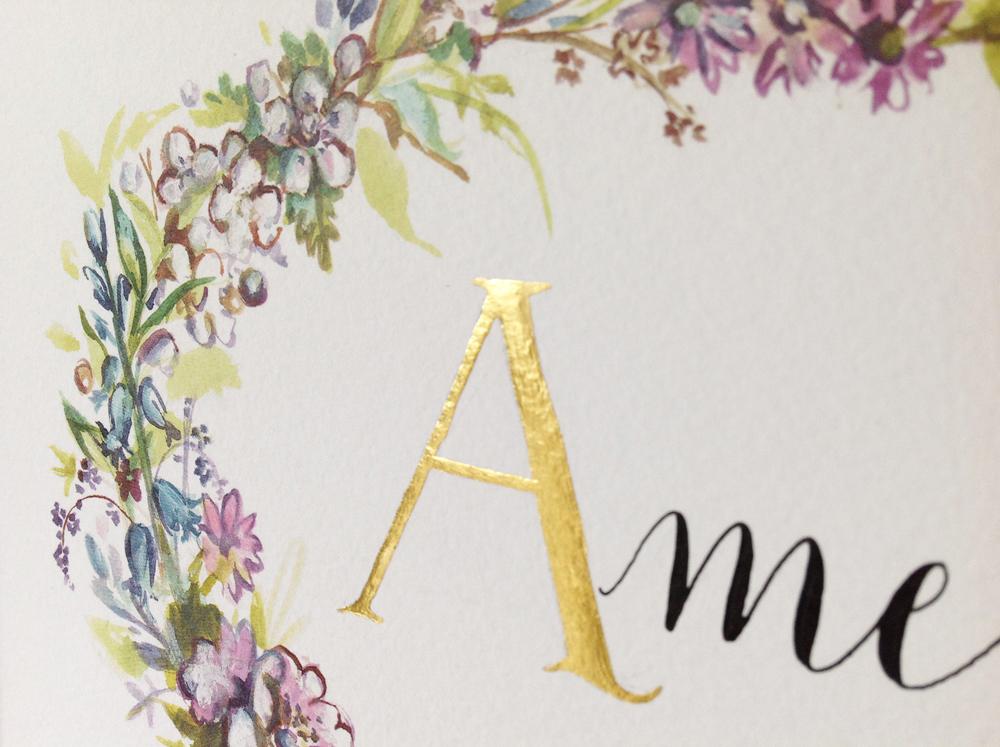 Calligraphy illustration print amelia1