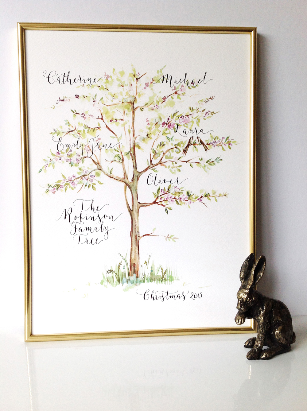 Calligraphy illustration print tree01