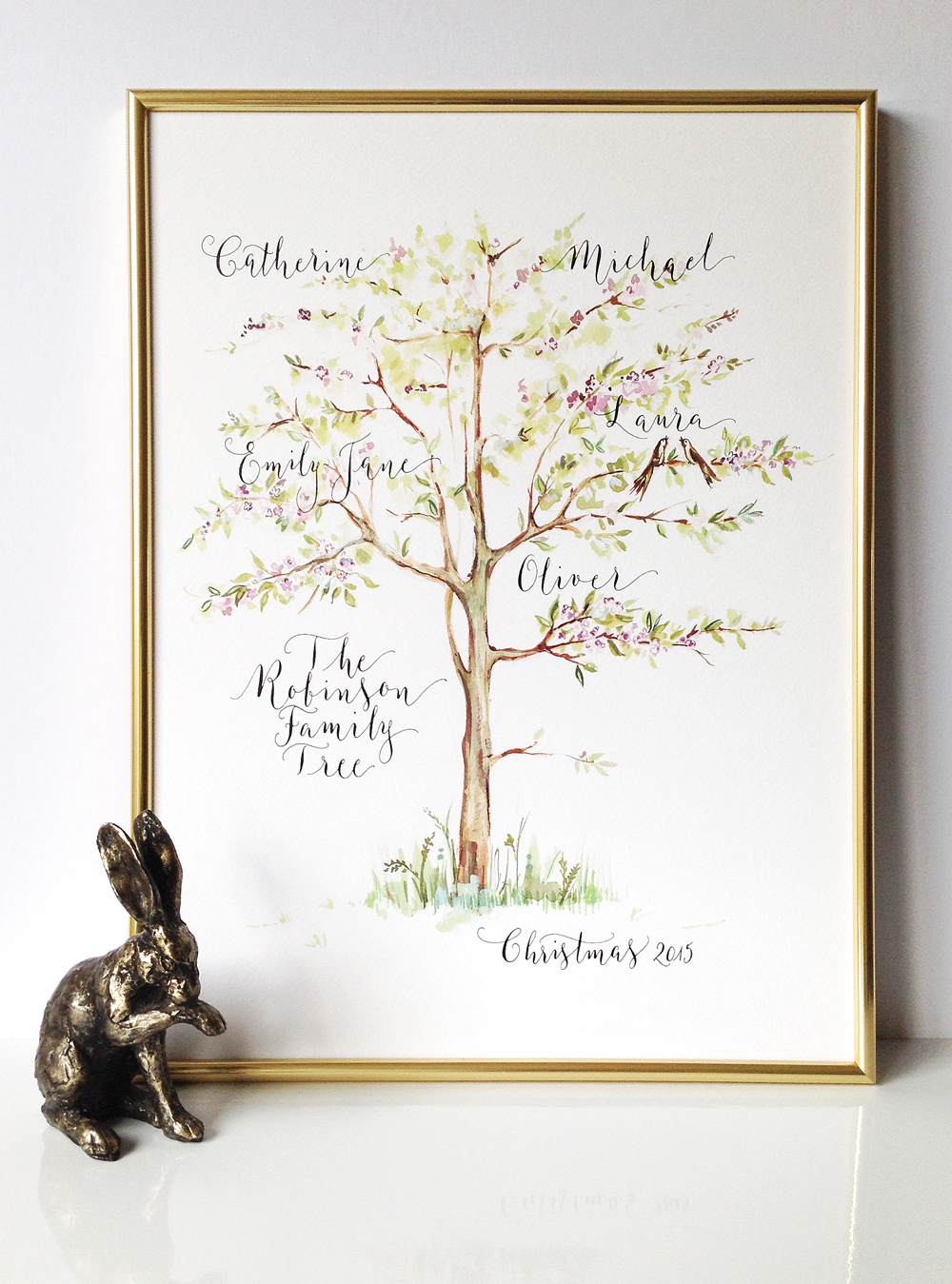 Calligraphy illustration print tree05