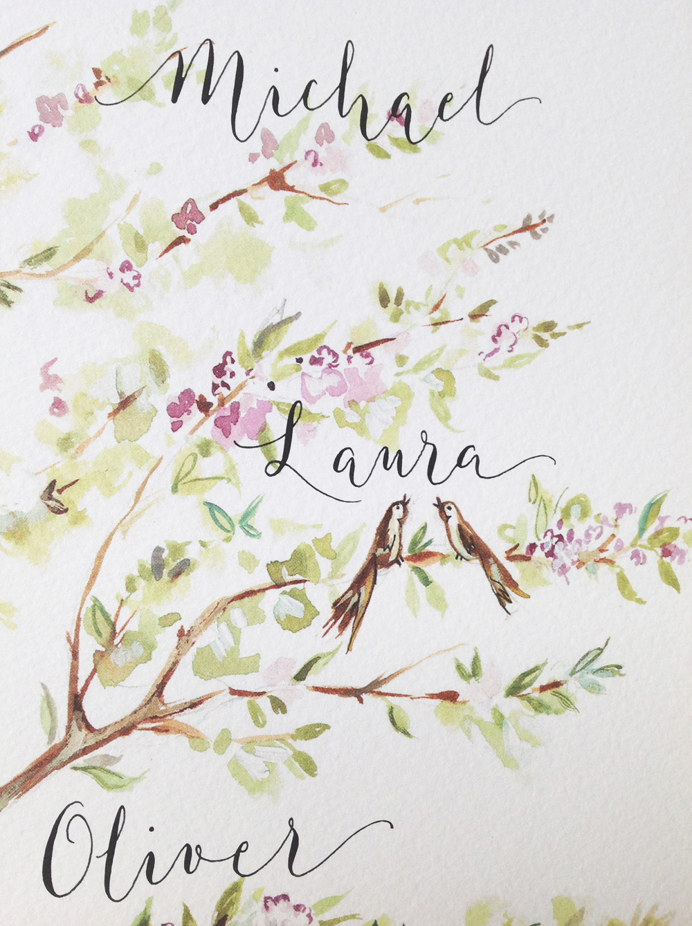 Calligraphy illustration print tree2