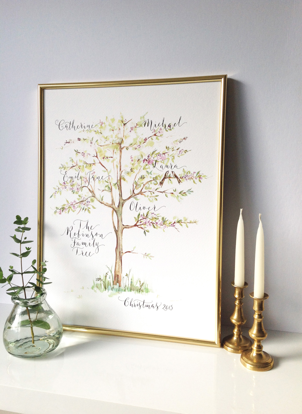 Calligraphy illustration print tree4