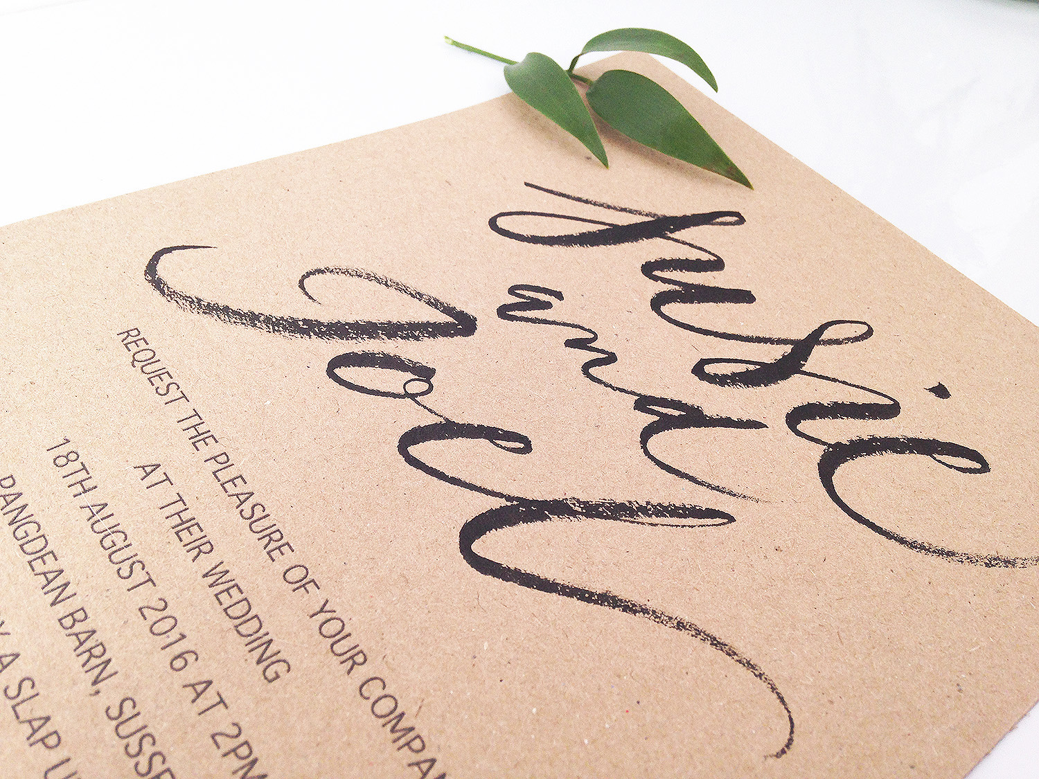 How To Use Brush Calligraphy In Your Wedding Invitations