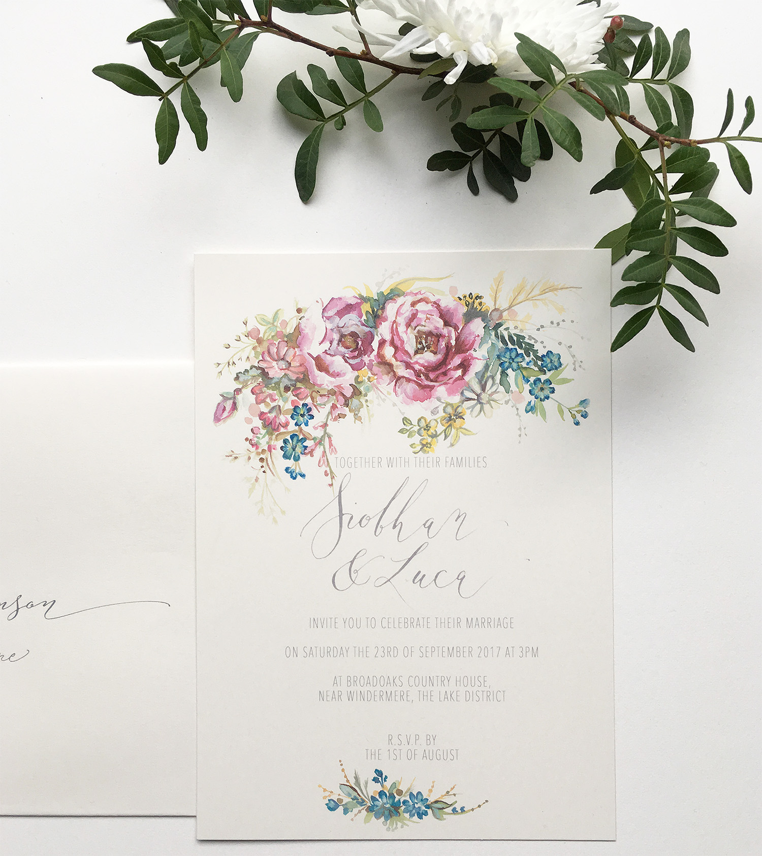 Bold and breathtaking – the Classic Peony wedding invitation from ...