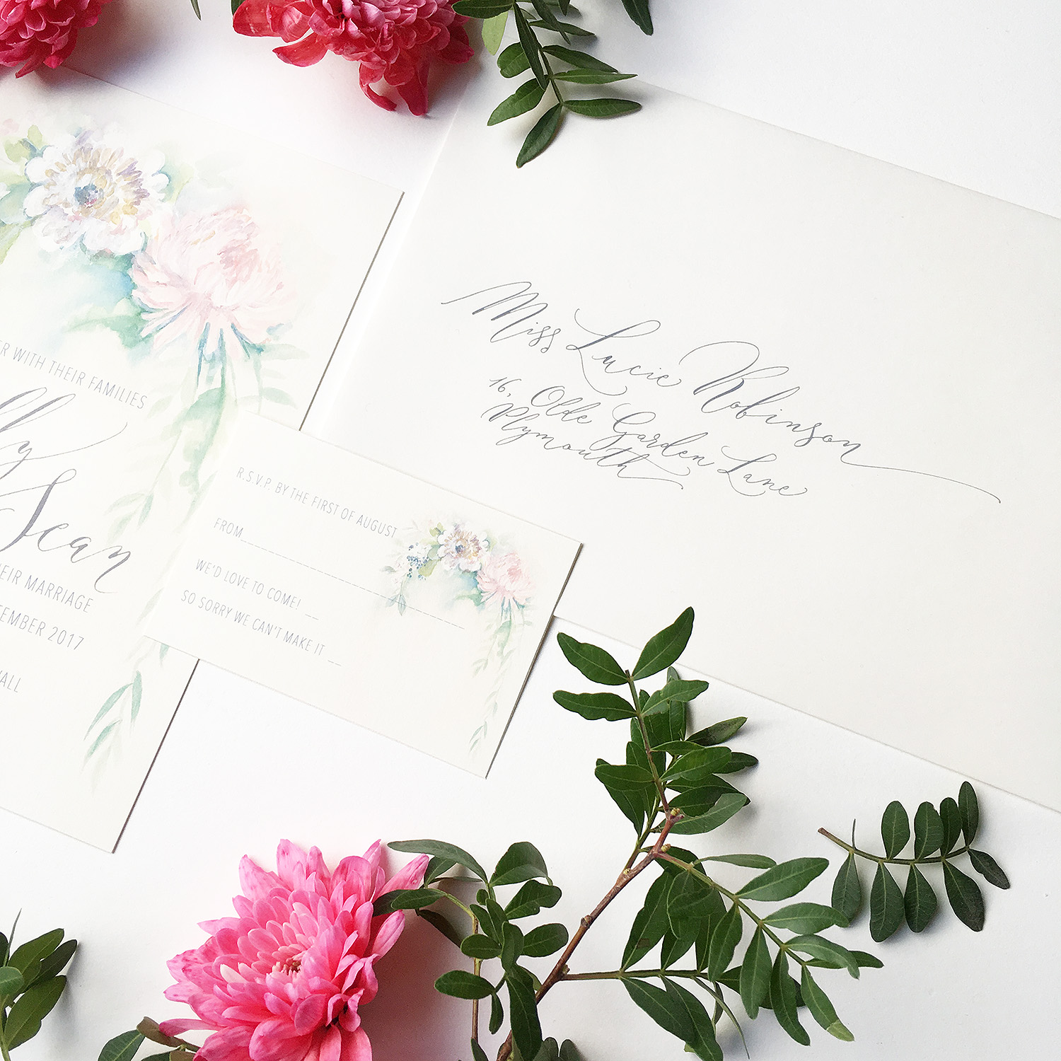 Illustrated Invitations By Moon Tide