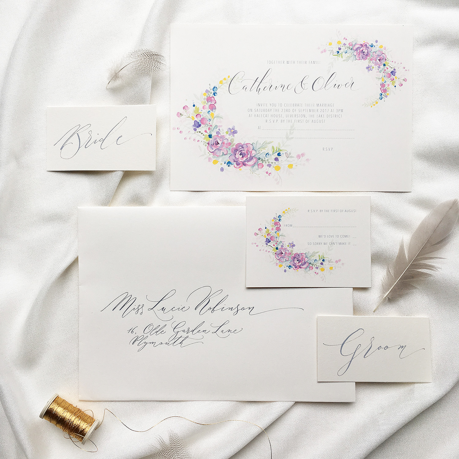 Floral Calligraphy Wedding By Moon Tide