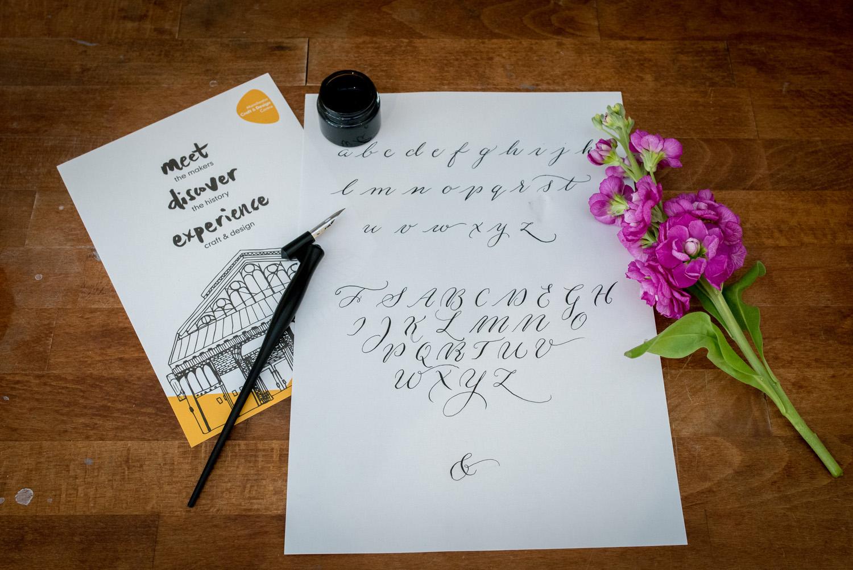 Calligraphy workshop u2013 by moon & tide