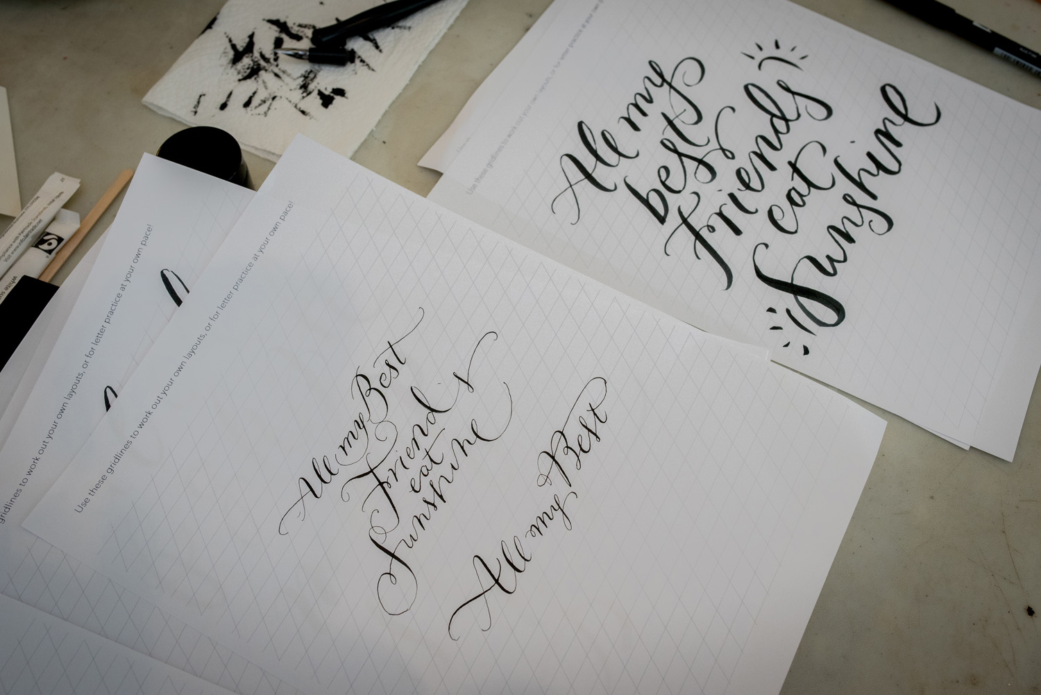 Calligraphy Workshop By Moon Tide