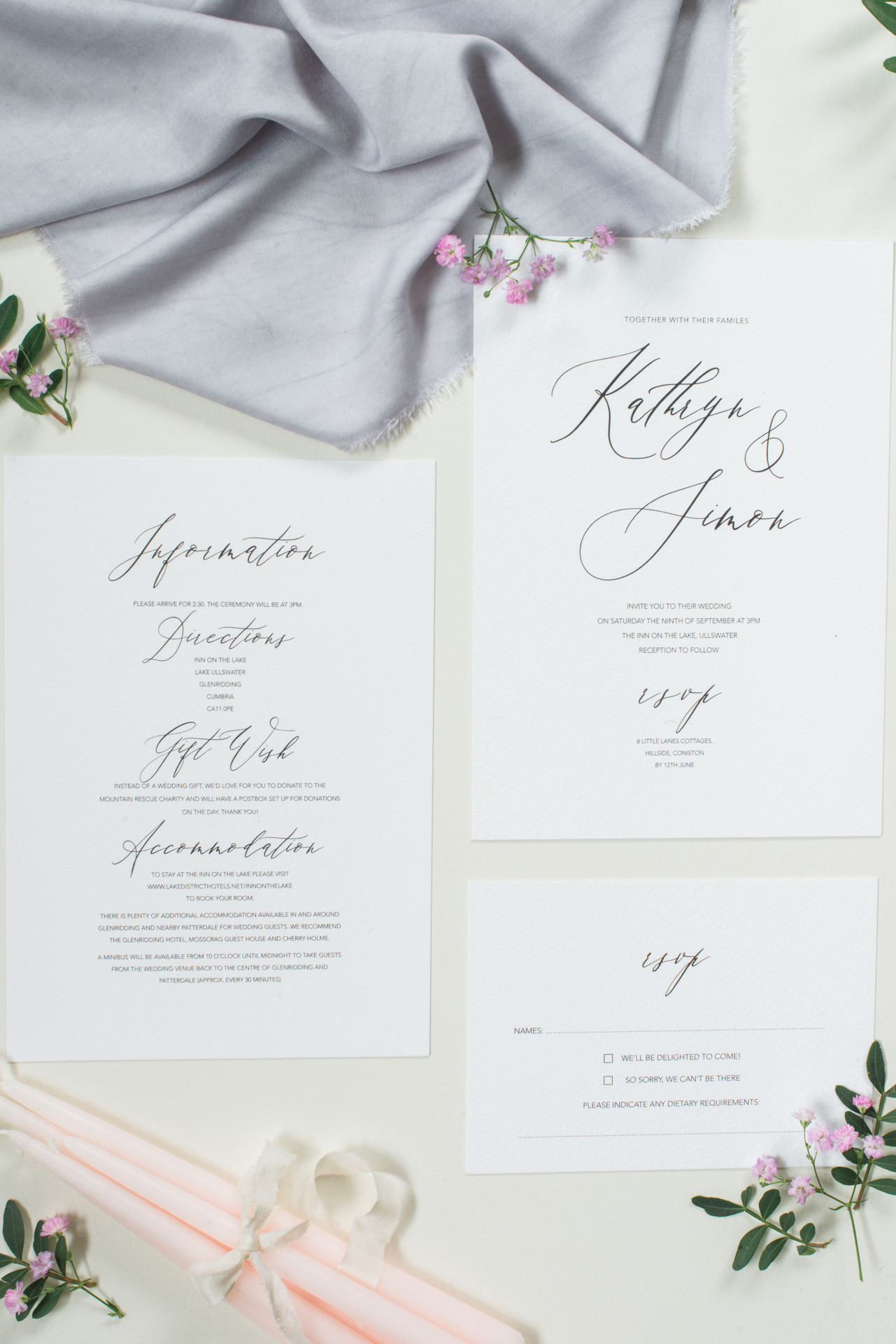 wedding invitations – By Moon & Tide