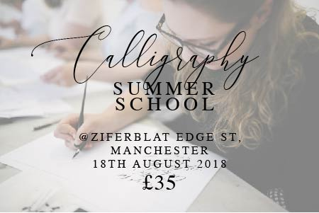 Summer & autumn 2018 calligraphy workshop spaces